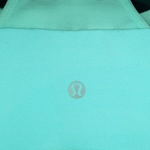 lululemon athletica Tops - Lululemon Tank Top Turquoise Blue and Black Neck